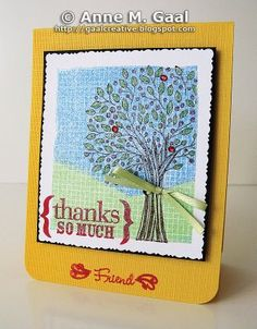 Thank You Card for a Friend by Anne Gaal of Gaal Creative at http://www.gaalcreative.com - Feel free to re-pin! ♥