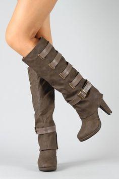 just went on a shopping spree at urbanog.com  Kuroda- 3 Strappy Cuff Knee High Boot  $42.20
