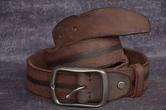 Men's Belt Cowskin Belt Unique Distressed Cowhide Leather Belt by SherryJewelry, $28.70