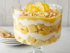 A vintage recipe with modern flavors. This lemon trifle is a perfect sweet and tart spring dessert with a balance of creamy, fluffy, and crunchy textures.
