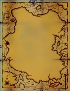pirate scroll template - treasure map template for pirate party games or pirate