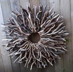 Custom Listing pour Kayce bois, très grande couronne de bois flotté, Sculpture, Art du bois flotté, Déco maison, à l'intérieur ou extérieur