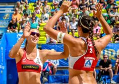 Tina Graudina and Anastasija Kravcenoka did also win their third out of three matches and top Pool B after beating Germany's Koertzinger/Schneider. Beach Volleyball, Women Volleyball, Tokyo Olympics, Tokyo 2020, University Of Southern California, Number Two, All Smiles, Woman Beach, World Championship