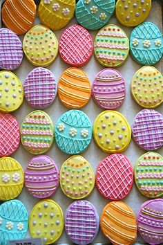 Easter egg cookie decorating inspiration.