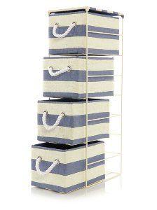 George Home Stripe 4 Drawer Storage Unit | Storage | George at ASDA