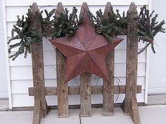 fence piece, greenery, star