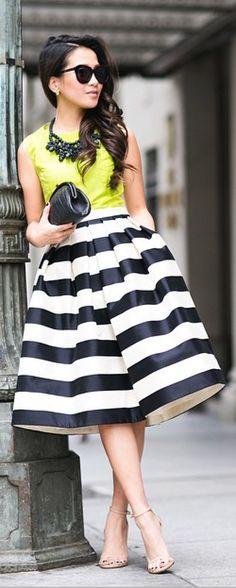 Ariana Grande For Lipsy Stripe Prom Skirt Modest Fashion, Love Fashion, Spring Fashion, Fashion Outfits, Autumn Fashion, Womens Fashion, Dress Up Outfits, Cool Outfits, Dresses