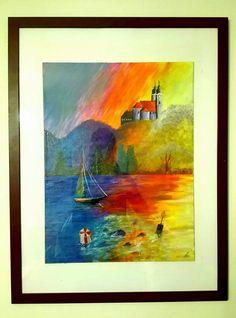 András Szurma- Tihany Painting / Tihany festmény