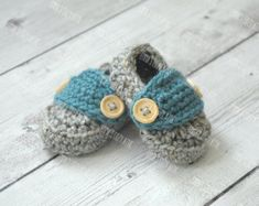 Crochet baby boy slippers crochet baby loafers by DolceStitches