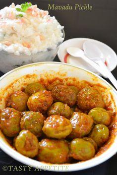 Tasty Appetite: Mavadu / Vadumangai Pickle ( Baby Mango Pickle )