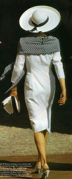 At Royal Ascot - Princess Diana.