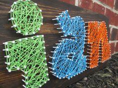 String Art Name Word Nail and String Art Wall by ArnieKHandmade