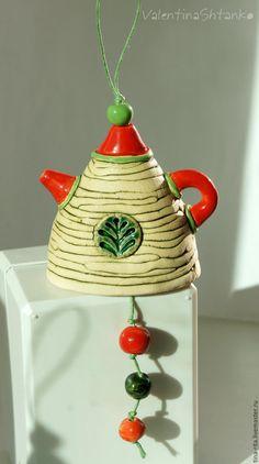 Купить Колокольчик коллекционный керамический - колокольчики керамические, колокольчики из глины, колокольчики в подарок, авторский колокольчик