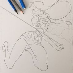 #silk #commission #pencils all done.  _______________________________________________________ #marvel #cheeks_galloway #fanart #drawing #seangallowayart #artist #brand #branding #brandname #tabletaffy #tabletaffy_studios #monday #afternoon #comics #instaart #instaartist #instagram #insta #instalike #instalikes #fun #illustration #illustrator #cartooning