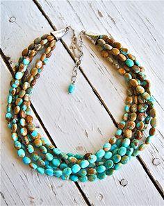 Ann Goodall Jewelry - Kingman Turquoise Strands
