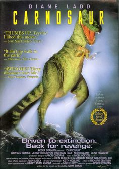 Find more movies like Carnosaur to watch, Latest Carnosaur Trailer, A genetically manipulated and very hungry dinosaur escapes from a bioengineering company and reeks havoc on the local desert town. All Movies, Sci Fi Movies, Movies Online, Movies And Tv Shows, Movie Tv, Horror Movie Posters, Horror Films, Film Posters, Roger Corman