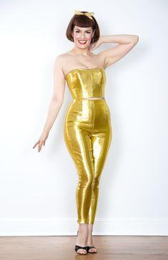 Bernie Dexter Silver Lurex Capri Pants | Hot Outfits | Pinterest ...