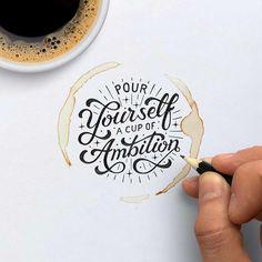 Hand Lettering Practice, Hand Lettering Quotes, Typography Quotes, Brush Lettering, Lettering Design, Branding Design, Hand Drawn Type, Hand Type, Schrift Design