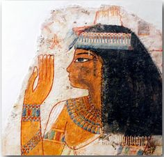 Lady Tjepu. Painted gesso on limestone. New Kingdom, Dynasty 18, reign of Amenhotep III (circa 1390-1352 B.C.). From tomb 181 at Thebes. One of the most remarkable paintings to survive from ancient Egypt, this depiction of the noblewoman Tjepu came from a tomb built for her son Nebamun and a man named Ipuki. Brooklyn Museum, New York, USA.