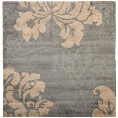 florida shag graybeige 4 ft x 4 ft square area rug