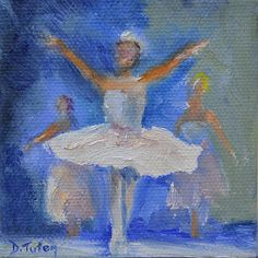 """""""Nutcracker Ballet,"""" Christmas painting, oil on canvas.  To see more of my work, please visit www.donna-tuten.artistwebsites.com"""