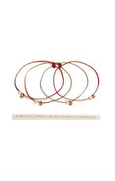 Bracciali PERLA filo cerato, perla, oro 9kt