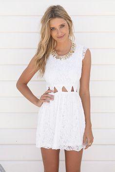 vestidos de encaje cortos blanco - Buscar con Google