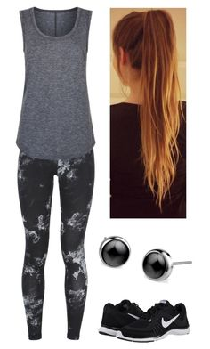 """""""Giovedì mattina: ginnastica"""" by nena69 ❤ liked on Polyvore featuring NIKE and Elie Tahari"""