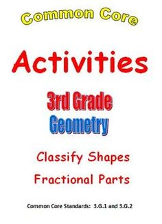 Common Core Math 3rd Grade Geometry Activities with I Have