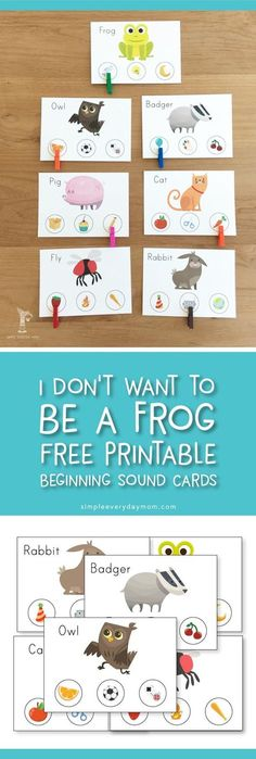 free printable beginning sound cards | book activities