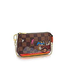 Mini Pochette Accessoires Evasion +Damier Ebene Canvas - Handbags   LOUIS VUITTON