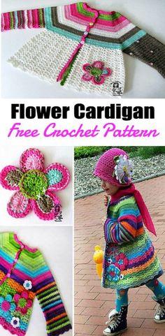 Crochet Patterns Girl Crochet Girls Coat Is a Colourful Free Pattern Crochet Jacket Pattern, Crochet Baby Jacket, Crochet Baby Sweaters, Crochet Coat, Crochet Baby Clothes, Afghan Crochet Patterns, Baby Knitting, Crochet Toddler Sweater, Dress Patterns