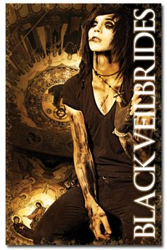 Andy 6 Cross Poster - Black Veil Brides Posters - Official Online Store on District Lines