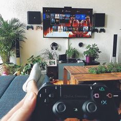 What do video gamers have? A residence video game room naturally. Look into this write-up on interesting video game room ideas for your basement Video Game Ps4, Video Game Rooms, Nerd Room, Gamer Room, Sims 4 City Living, Gaming Room Setup, Gaming Rooms, Game Room Decor, Game Room Design