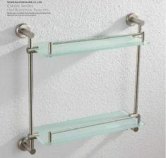 Wall Mount Storage Shelf | ... Nickel Bathroom Shelf Shower Caddy Storage  Holder Wall