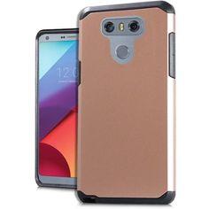 Mundaze Rose Gold Slim Double Layered Case For LG G6 Phone