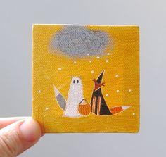 halloween snow / original painting on canvas