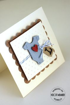 Cute baby card! From Hobby di Carta - Il blog: Scrap per ogni occasione by Fiorella