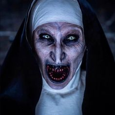 "Horror Enthusiast 🔪 on Instagram: ""- Here's more of Valak 💀😈 #thenun #thenunmovie #valak #bonnieaarons #horror #horrormovie #instahorror"""
