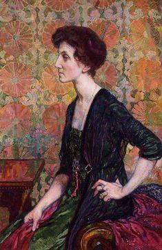 ⊰ Posing with Posies ⊱ Portrait of Else Lampe Von Quita, 1911 Theo van Rysselberghe