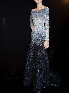 Backstage at Elie Saab Haute Couture Fall 2014  Paris Fashion Week