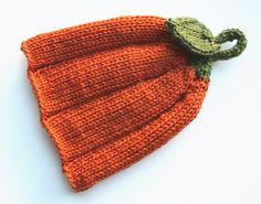 Ravelry: Punkin Head pattern by Tara Thomsen Kids Knitting Patterns, Baby Hats Knitting, Weaving Patterns, Knitting For Kids, Knitting Projects, Knitted Hats, Crochet Quilt, Knit Or Crochet, Crochet Stitches