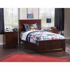 Atlantic Madison Walnut Bed with Matching Footboard