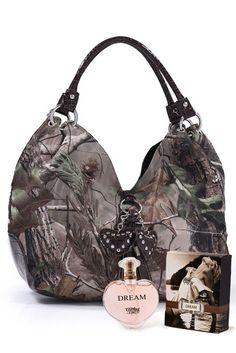 Realtree® Camo Brown Hearts Handbag & Perfume Package