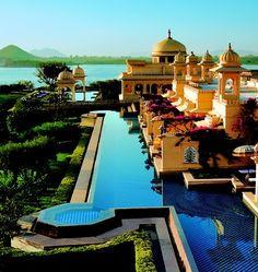 Udaivilas hotel in sandstone