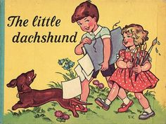 Vintage Dachshund book on pinterest.com