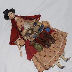 Fabulous All Original Apollo Knot Milliner's Model Peddler Doll
