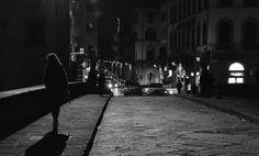 Romantic bridge in the night.