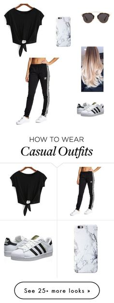 """Casual"" by pauolivaress on Polyvore featuring adidas Originals and Christian Dior"