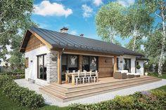 Facade Design, Exterior Design, Evergreen House, Home Exterior Makeover, Compact House, House Elevation, Small House Design, Modern House Plans, House Layouts
